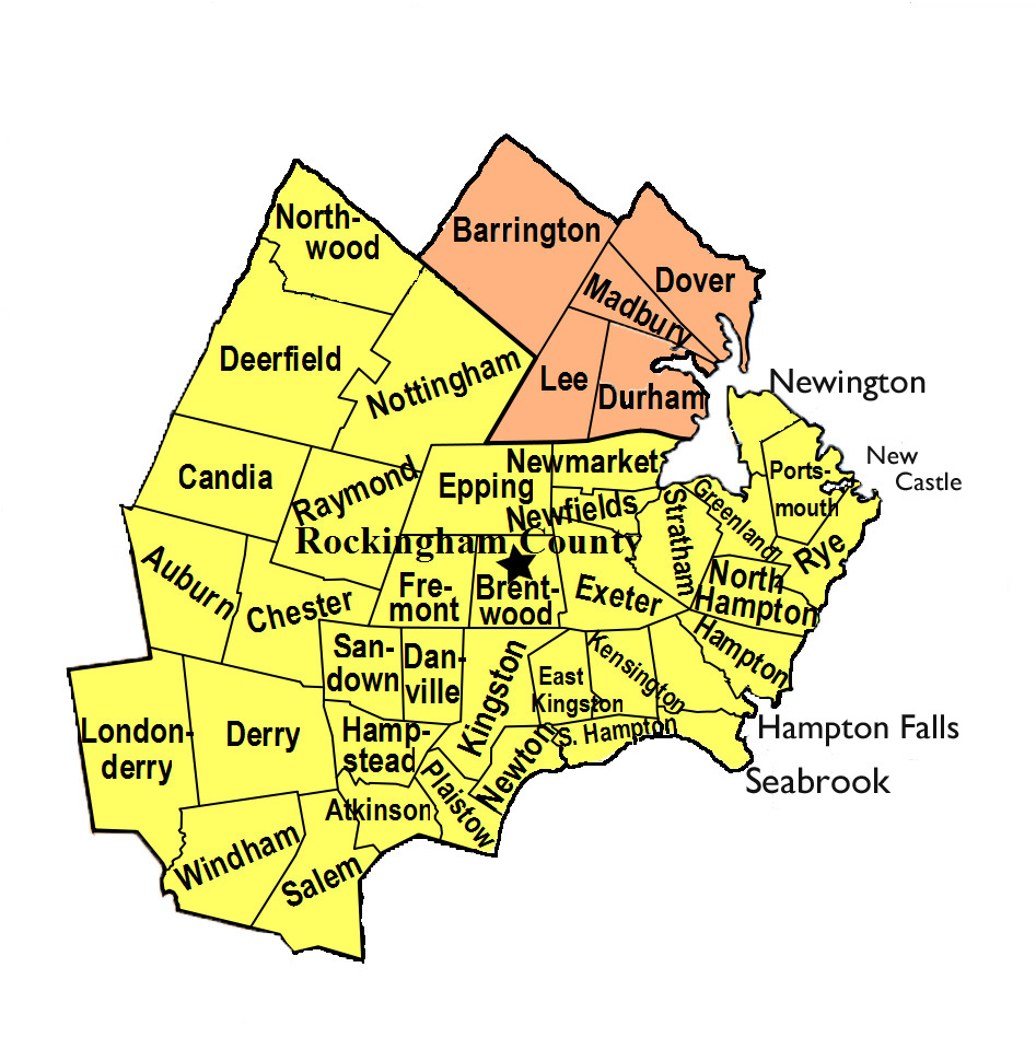Exeter Hospital Areas We Serve - Nh map with towns