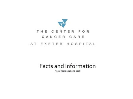 Exeter Hospital - Center for Cancer Care Annual Report